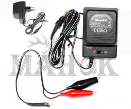 Зарядное устройство для аккумулятора на 6/12 В: 500 мА