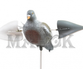 Подсадное чучело ГОЛУБЬ Birdland имитация полета, работа от ветра