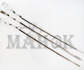 Шампур для шашлыка, нержавейка уголок 560х10х1 мм