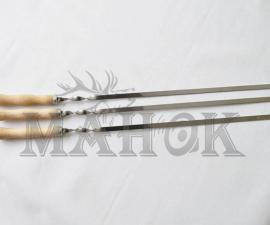 Шампур с деревянной ручкой 600х9х1,5 мм
