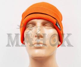 Шапка вязаная двухслойная оранжевая Thinsulate