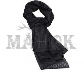 Шарф-сетка 160 х 40 см черный (мягкий трикотаж)