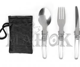 Походный набор приборов 3 в 1: нож, ложка, вилка